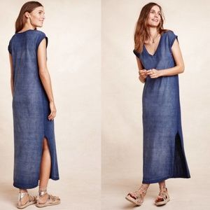 Cloth & Stone nila t-shirt dress blue